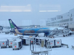 Picture perfect in Anchorage - about to take off for Cordova.