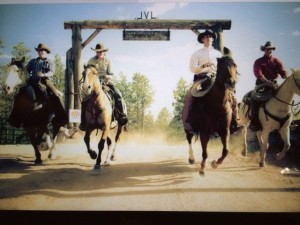 Wranglers,demonstrating controlled loping. Emphatically, not us.