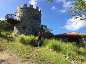 Arriving at the castle. There was nothing, and no one around us. That was aa teensy bit creepy at first. Then awesome.